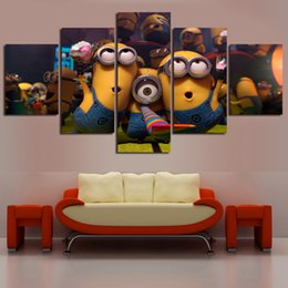 $enCountryForm.capitalKeyWord Canada - Hot Sale New Oil Painting 5 Panel Modern Little People print Canvas Paintings Wall Art Picture For Living Room No Frame