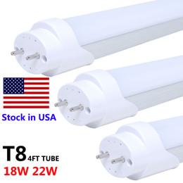 Led Tube Lights 4ft Canada - 4ft 22W LED Tubes Light 18W T8 LED 4ft Tube Lights SMD 2835 Cold White 6500K 28W t8 lead tube lamp