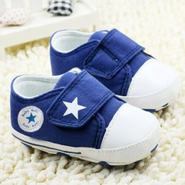 $enCountryForm.capitalKeyWord Australia - Wholesale- 2017 Breathable Canvas Shoes 0-18 month Boys Shoes Comfortable Girls Baby Sneakers Kids Toddler Shoes