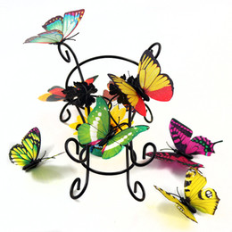 Wholesale Sticker Butterfly Wallpaper Multicolor Simulation D Home Decor Home Life Decoration Pastoral Natural Style Stickers Living Room Wallpaper