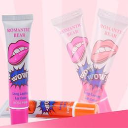 $enCountryForm.capitalKeyWord Australia - Romantic Bear Lip Gloss Women MakeUp Tint WOW Long Lasting Tint Lip Peel Off tatto Lipstick Full lips LipGloss