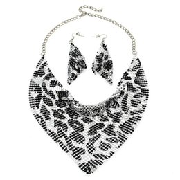 $enCountryForm.capitalKeyWord UK - MANILAI Indian Jewelry Set Chic Style Shining Metal Slice Bib Choker Necklaces Earring Party   Wedding Fashion Jewelry Sets 2017