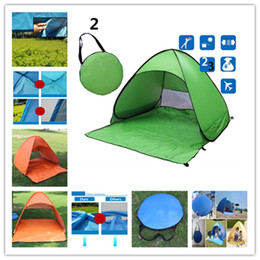 Tents Camping Gear Canada - Outdoors Tents Quick Automatic Opening 50+ UV Protection Outdoor Gear Camping Shelters Tent Beach Travel Lawn Multicolor 10 PCS