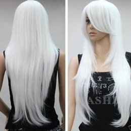 $enCountryForm.capitalKeyWord Canada - Lace Front style long white lady's Synthetic Wig african american afro american hair no lace front peruca Cosplay Wigs