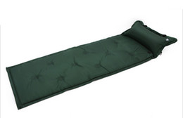China Wholesale- Wholesale 180x57x2.5cm Camping Mat Automatic Inflatable Mat Waterproof Dampproof Sleeping Pad Tent Air Mat Mattress with Pillow supplier tent waterproofing suppliers