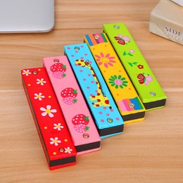 $enCountryForm.capitalKeyWord Canada - Special stationery wooden children harmonica mouth double row of 16 children enlightenment instrument with teaching students