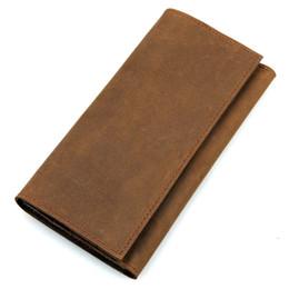 $enCountryForm.capitalKeyWord Canada - Brand Designer Genuine Leather Wallet Mens Wallets Long Wallet Men Purses for Cellphon Passport Male Card Holder Clutch Bags Brown Wallet