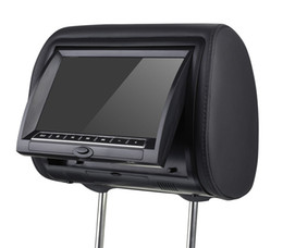 Mp4 Monitor Canada - 9'' Car DVD Pillow Headrest Monitor With Remote Controller Support DVD CD Player