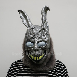 mask horror zombie Canada - Hot Sale Halloween Party Cosplay Donnie Darko Rabbit Mask Scary Animal Full Head Horror Mask Zombie Devil Skull Mask Toys