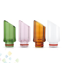 $enCountryForm.capitalKeyWord UK - Pyrex Glass 510 Drips tips 4 Colors Wide Bore Mouthpiece 27MM*12.5 MM High quality Glass Drip Tip fit Atomizer DHL Free