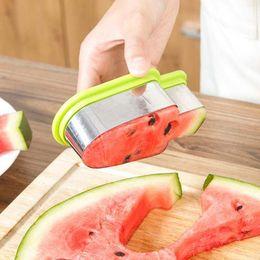 Cutter Fruit Watermelon Australia - 2017 new Fruit Tools Stunning Creative Watermelon Slicer Ice Cream Popsicle Shape Melon Cutter Mold Tool