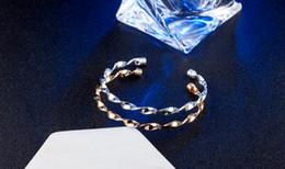fashion jewelry holders 2019 - Fashion twisted bracelet Silver Gold Tie Bracelets Alloy Open Bangle cuff Wristband for Women Hair Tie Holder Bracelet J