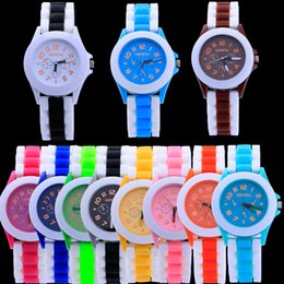 glasses trade Australia - Women's double color plastic shell Geneva watch retro watch lovers foreign trade watches