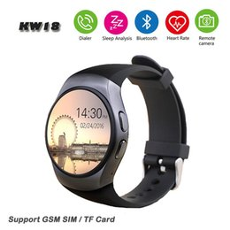 $enCountryForm.capitalKeyWord Australia - KW18 Smart Watch phone Support SIM TF Card Heart Rate Monitor MTK2502 Smartwatch for apple gear s2 Android IOS Phone