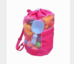 Discount mini mesh bags - 2017 New Beach Mesh Bags Sand Away Collection Toy Bag Storage For Sea Shell Kids Children Tote Organizer 2colors