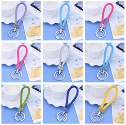 $enCountryForm.capitalKeyWord NZ - New arrival Diamond leather rope flashing paragraph creative car bag key chain fashion wild KR277 Keychains mix order 20 pieces a lot
