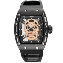 Discount skull pirate watch - SKONE 2017 Pirate Skull Style Quartz men Watches Brand Men Military Silicone Men Sports Watch Waterproof Relogio Masculi