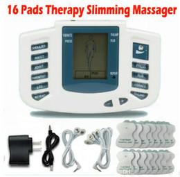 Stimulateur électrique Full Body Relax Massage musculaire Masseur Massage Pulse dizaines Acupuncture Soins de santé Machine 16 Pads