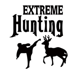 Hunting Decals Stickers NZ - Car Sticker Extreme Hunting Bumper Deer Vinyl Reflective Funny Car Styling Decorations Car Decals Personality Decorate