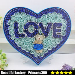 Creative Send His Girlfriend Soap Flower Gift Box Plus Bear Love Lamp Valentines Day Birthday Teacher S Wedding S04 4