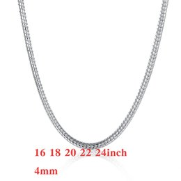 $enCountryForm.capitalKeyWord Canada - Trendy Men's Silver 925 Snake Chains Necklace ,Fashion Jewelry Silver Necklaces 16inch~24inch 4mm 20Pcs Free Shipping n191