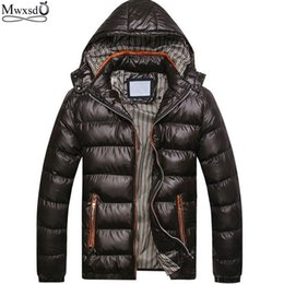 $enCountryForm.capitalKeyWord Australia - Wholesale- 2016 New famous brand Warm Man's winter jacket warm parka Coat for men Light jacket coats plus size :M-3XL