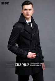 Wholesale men s business trench coat resale online - Men in the spring and autumn fashion new business leisure trench coat of cashmere woolen cloth big yards S XL