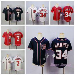 sports shoes a727b ee293 washington nationals 34 bryce harper red kids jersey
