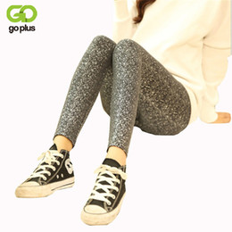 Leggings Al Por Mayor Baratos-Venta al por mayor- GOPLUS Gold Sequined Leggings pantalón completo pantalones de lentejuelas Anti vacíos Slim Thin lápiz brillante pantalones metálicos estiramiento Calca Feminina