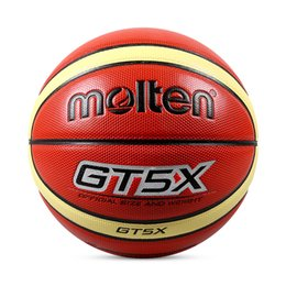Net Games Australia - Molten Children Basketball Ball GT5X PU Leather Outdoor Indoor Size 5 Games Basketball Ball Training Equipment With Net+Needle