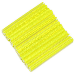 Wholesale Bicycle Bike Wheel Rim Spoke Mount Clip Tube Warning Light Strip Reflector Reflective Yellow mm Bicycle Reflective tube