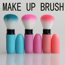 wholesale cosmetic makeup brushes NZ - Wholesale-Portable Retractable Makeup Blush Brush Cosmetic Adjustable Face Power Kabuki Blending Make up Flexible Brushes Maquiagem
