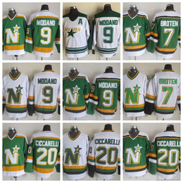... ireland throwback minnesota north stars hockey jerseys 9 mike modano 20  dino ciccarelli 7 neal broten 9f63a66ce