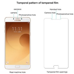 Galaxy Note Protectors Canada - Lowest Price Tempered Glass Explosion Proof Screen Protector For Samsung Galaxy C5 C7 C9 S5 S6 edge glass Note 4 5 6 With package
