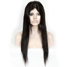 Great Wigs UK - Italy Glueless Silk Wig Pressure Is Greater Than Is Full Lace Wig My Shoelaces Brazilian Straight Hair Wig And Human Infants Human Hair 100%
