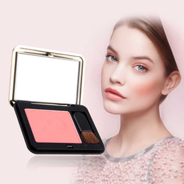 sleek face palette Canada - Wholesale- Professional Beauty Face Blush Powder Makeup Baked Cheek Color Bronzer Blusher Palette Colorete Sleek Cosmetic Shadow