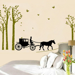 $enCountryForm.capitalKeyWord Australia - Carriage Wall Stickers Bedroom Adhesive Decorative Decor Art Decal Removeable Wallpaper Mural Sticker for Kids Room Girls Living Room