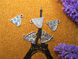 Wholesale 20pcs Large Slice Of Pizza Charm Silver tone mm x mm Food Charm BBF Friendship Best Friends Family Pendant