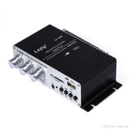 amplifier audio cars NZ - DHL 10PCS Car Lepy LP - A68 Portable 12V HiFi Amplifiers Audio Support Compatible with SD USB Support RCA Player Stereo