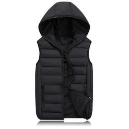 Fashion Men's Vest Winter Men Hooded Vest Male Fashion Cotton-Padded Waistcoat Jacket and Coat Warm Vest 3XL 2XL on Sale