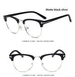Discount metal myopia frame - Vintage Clear Glasses Myopia Clear Frame Glasses Women Eyewear Men Spectacle Frame Clear Lens Optical Glass LT8015