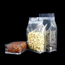 Venta al por mayor de Bolsas a prueba de humedad para alimentos de gran capacidad de 300 unidades, bolsas transparentes de pie, bolsas de empaque de fondo plano para galletas de refrigerio