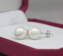 $enCountryForm.capitalKeyWord NZ - Luxurious 10mm south sea white perfect circle shell beads pearl earrings ZFE-196