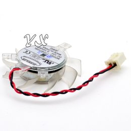 Wholesale free shipping high quality video card fanNew T124010SL DC12V 0.10AMP Graphics card fan 36mm diameter