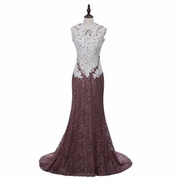 TrumpeT prices online shopping - Competitive Price Mermaid Evening Style Dress Sexy Open Back Lace Long Women Banquet Dress New Fashion