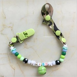 Barato Clipes Infantis Grossistas-Atacado-Personalizado -New Nome Customized Baby Pacifier Clip Infantil Nipple Appease Soother Cadeia Clips Dummy Pacifier Clip Holder Quente