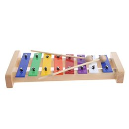 Discount languages learning - 8 Notes Wooden Children Kid Xylophone Glockenspiel Musical Instrument Toy Gift Music New