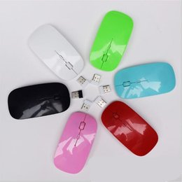Discount slim mouse for laptop - Ultra Thin USB Optical Wireless Mouse 2.4G Receiver Super Slim Mouse mice For Computer PC Laptop Desktop DHL free SB003