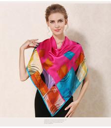 $enCountryForm.capitalKeyWord NZ - 2017 Spring summer 100% silk scarf beach shawl wraps stole headband 110x110cm fashion high quality pashmina scarf for women lady GL-XM110FK