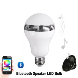 $enCountryForm.capitalKeyWord Canada - Speaker bluetooth E27 LED RGB Light Music Bulb Lamp Color Changing via WiFi App Control mp3 player wireless bluetooth speaker